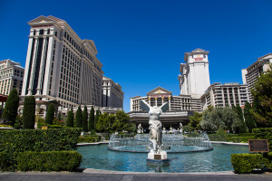 The outside of Caesars Palace in Las Vegas
