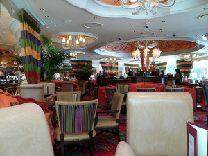 A casnio bar at the Wynn in Las Vegas