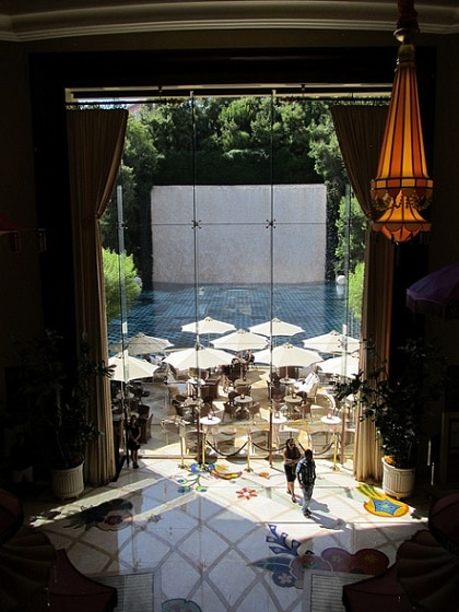 A view from the Parasol Up bar at the Wynn