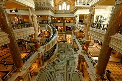 Caesars Palace Forum Shops is the most success mall in the United States