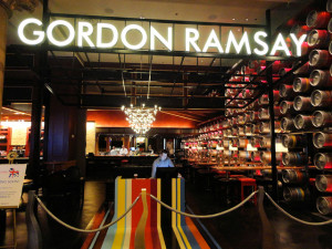 The entrance to Gordon Ramsay Pub & Grill at Caesars Palace