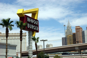 This is the closest In-N-Out Burger to the Las Vegas Strip