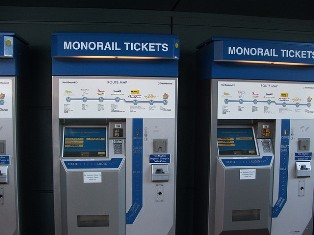 Las Vegas Monorail Ticket Kiosks