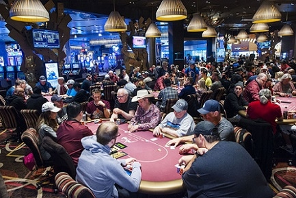 The Aria's Poker Room is often the busiest in Las Vegas
