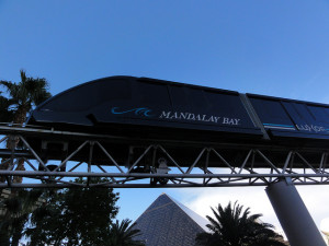 The Mandalay Bay to Luxor to Excalibur Tram