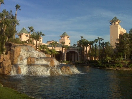 Waterfalls at the CasaBlanca Hotel and Casino in Mesquite, Nevada.