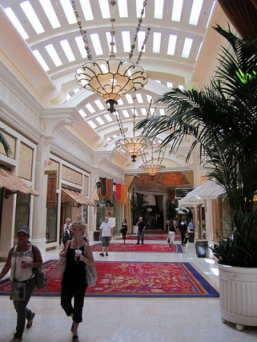 The Wynn Esplanade Shopping Area