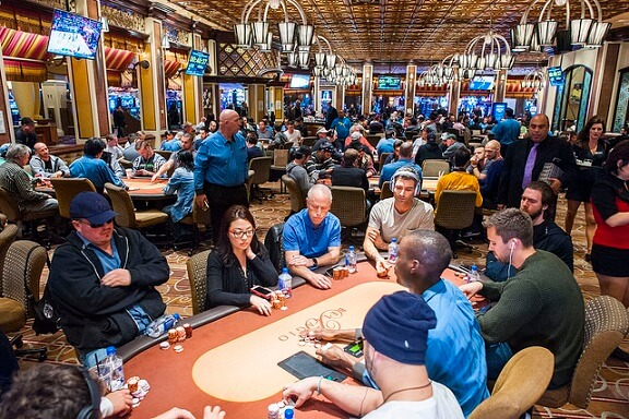 The poker room at the Bellagio in Las Vegas
