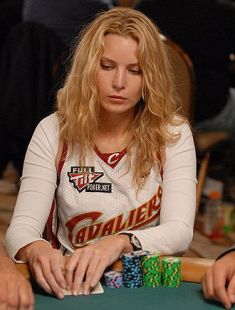 Erica Schoenberg at the Poker Table