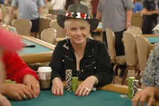 Susie Isaacs - 2 time winner of the WSOP Ladies Tournament