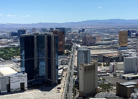 Looking south to the Las Vegas Strip from atop the Stratosphere