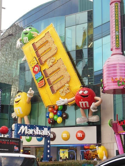 M&M's World on the Strip in Las Vegas - Candy Store Hours & Parking