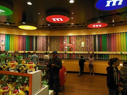 The M&M's wall of dreams
