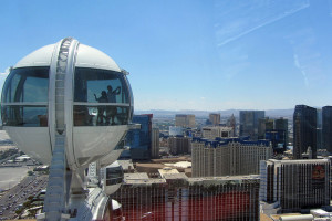 View from atop the High Roller Ferris Wheel in Las Vegas