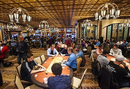 The Venetian poker room spreads a lot of $1-2 NL hold'em, while the Aria and the Bellagio (pictured here) offer $1 - $3
