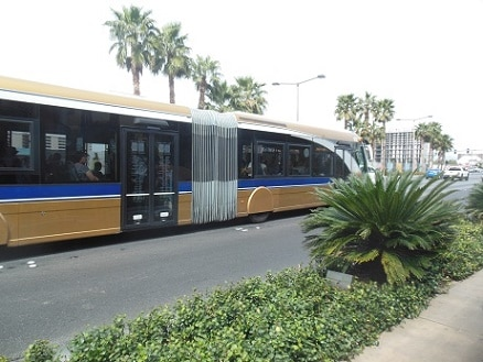 The SDX is the fastest way from the Strip to downtown Fremont Street