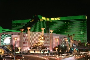 The MGM Grand is just over 1/2 mile from the Luxor