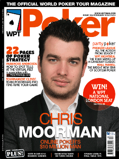 Chris Moorman on the cover of the World Poker Tour Magazine