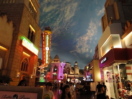 Some of the shops at the Miracle Mile