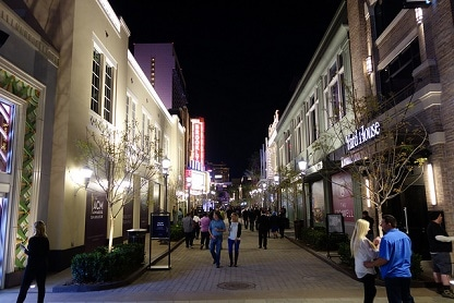 The Linq Shopping District at Night