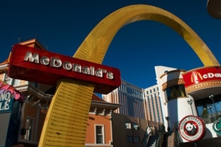 The McDonald's on the Las Vegas Strip Near Harrah's