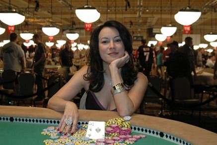 Jennifer Tilly after winning her 2005 WSOP Bracelet