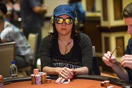 Jennifer Tilly at a World Poker Tour stop