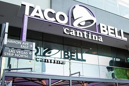 The fun and unique Taco Bell Cantina on the Las Vegas Strip