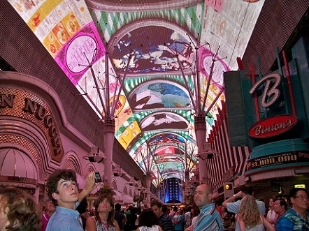 The Fremont Street Experience Light Show