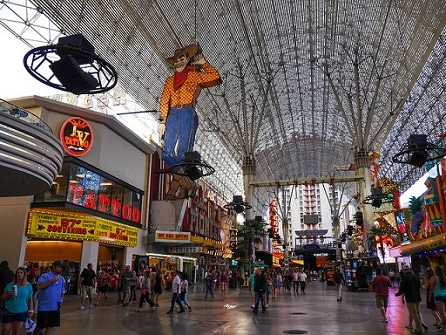 There are lots of fun things to do on Fremont Street