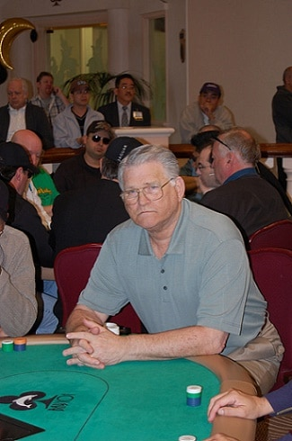 T.J. Cloutier at the poker table