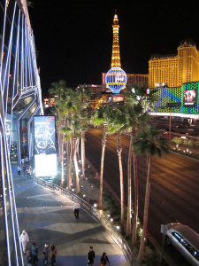 It would take you about an hour and a half to walk the length of the Las Vegas Strip