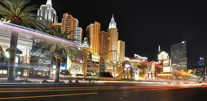 The southern end of the Las Vegas Strip