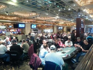 During tournaments, the Flamingo Poker Room can get packed