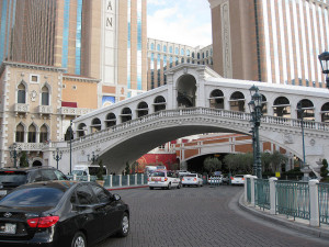 Entrance to the Venetian Parking Area