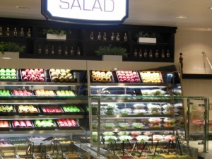 Harrahs Food Court's Salad area