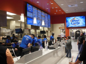 Inside the Busy White Castle on the Las Vegas Strip