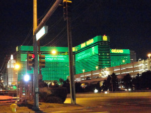 The MGM Grand Las Vegas Parking Structure is on the right