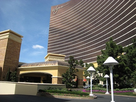A valet parking area at the Wynn