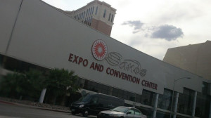 There's lots of parking at the Sands Expo and Convention Center
