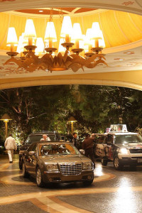 Valet parking at the Encore Las Vegas