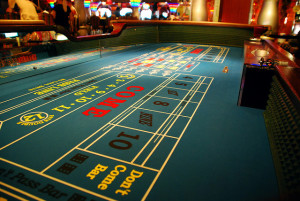 A typical Craps table
