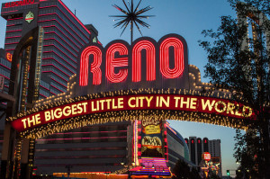 Reno has the 2nd highest number of casinos in Nevada