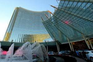 The main front valet parking area at the Aria Las Vegas