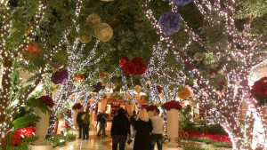 A Christmas scene at the Wynn Las Vegas
