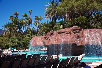 By mid-April, the weather in Las Vegas is usually good enough for resort pools to open.