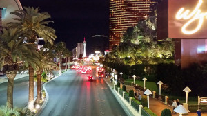 March nights in Las Vegas are usually pleasant enough for one to walk around