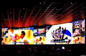 The weather in Las Vegas during March Madness is perfect in the sports books
