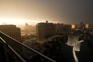 Yes it rains in Las Vegas - and not just in da' clubs.