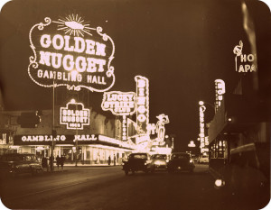 The old Las Vegas Strip during the 1940's